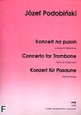 Okładka: Podobiński Józef, Koncert na puzon i orkiestrę (wyciąg fortepianowy)