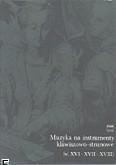 Okładka: Altberg Emma, Muzyka na instrumenty klawiszowo-strunowe (w. XVI-XVII-XVIII)