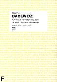 Ok�adka: Bacewicz Gra�yna, Kwintet na instrumenty d�te (partytura+g�osy)
