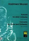 Okładka: Sikorski Kazimierz, Koncert na obój i orkiestrę (wyciąg fortepianowy)
