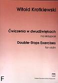 Okładka: Krotkiewski Witold, Ćwiczenia w dwudźwiękach