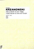 Okładka: Krzanowski Andrzej, Trzy utwory na obój i trąbkę (partytura)