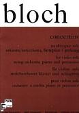 Okładka: Bloch Augustyn, Concertino na skrzypce solo, orkiestrę smyczkową, fortepian i perkusję (wyciąg fortepianowy)