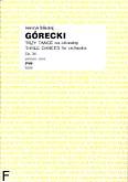 Okładka: Górecki Henryk Mikołaj, Trzy tańce op. 34 na orkiestrę (partytura)