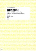 Ok�adka: G�recki Henryk Miko�aj, Trzy ta�ce op. 34 na orkiestr� (partytura)