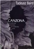 Okładka: Baird Tadeusz, Canzona na orkiestrę (partytura)