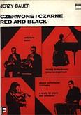 Okładka: Bauer Jerzy, Czerwone i czarne etiuda na fortepian i orkiestrę (partytura+wyciąg fortepianowy)