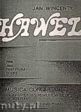 Okładka: Hawel Jan Wincenty, Musica concertante na kwintet instrumentów dętych i fortepian (partytura)