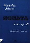 Ok�adka: �ele�ski W�adys�aw, Sonata F-dur op. 30