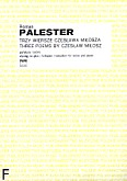 Okładka: Palester Roman, Trzy wiersze Czesława Miłosza na sopran i 12 instrumentów (partytura+wyciąg fortepianowy)