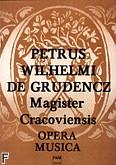 Okładka: Piotr z Grudziądza, Opera musica (partytura)