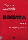 Okładka: Noskowski Zygmunt, Sonata a-moll na skrzypce i fortepian