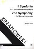Ok�adka: Krzanowski Andrzej, II Symfonia na 13 instrument�w smyczkowych (partytura)