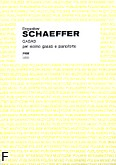 Okładka: Schaeffer Bogusław, Gasab na skrzypce i fortepian