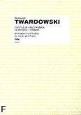 Okładka: Twardowski Romuald, Fantazja hiszpańska na skrzypce i orkiestrę (wyciąg fortepianowy)