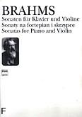 Ok�adka: Brahms Johannes, Sonaty na fortepian i skrzypce