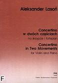 Okładka: Lasoń Aleksander, Concertino w dwóch częściach