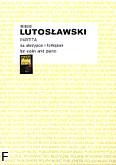Ok�adka: Lutos�awski Witold, Partita na skrzypce i orkiestr� (wyci�g fortepianowy)