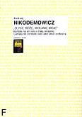 Ok�adka: Nikodemowicz Andrzej, S�ysz, Bo�e wo�anie moje (partytura+g�osy)