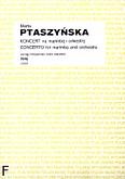 Okładka: Ptaszyńska Marta, Koncert na marimbę i orkiestrę (wyciąg fortepianowy)
