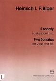 Okładka: Biber Heinrich Ignaz Franz von, 2 sonaty