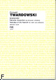 Okładka: Twardowski Romuald, Niggunim. Melodie Chasydów na skrzypce i orkiestrę (partytura)