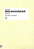 Ok�adka: Balakauskas Osvaldas, Sonata na skrzypce i fortepian