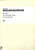 Okładka: Balakauskas Osvaldas, Do Nata na wiolonczelę i taśmę