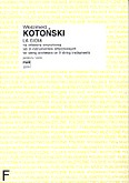 Okładka: Kotoński Włodzimierz, La gioia na orkiestrę smyczkową lub 9 instrumentów smyczkowych (partytura)