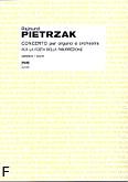 Okładka: Pietrzak Rajmund, Concerto per organo e orchestra per la Festa della Risurrezione (partytura)