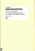 Okładka: Balakauskas Osvaldas, Tyla-le silence na 4 głosy i orkiestrę kameralną (partytura)