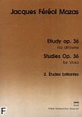 Okładka: Mazas Jacques-Féréol, Etiudy na altówkę, op. 36, z. 2: Études brillantes