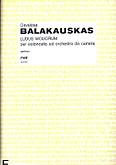 Okładka: Balakauskas Osvaldas, Ludus Modorum per violoncello ed orchestra da camera (score)
