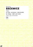 Okładka: Bacewicz Grażyna, Trio na obój, skrzypce i wiolonczelę (partytura + głosy)