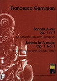 Ok�adka: Geminiani Francesco Saverio, Sonata A-dur op. 1 nr 1 na skrzypce i klawesyn (fortepian)