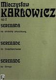 Okładka: Karłowicz Mieczysław, Serenada op. 2 (partytura)