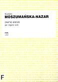 Ok�adka: Moszuma�ska-Nazar Krystyna, Oratio brevis per organo solo (solo)