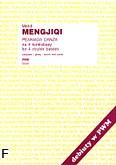 Okładka: Mengjiqi Mehdi, Peaniada danza na 4 kontrabasy (partytura+głosy)