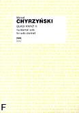 Okładka: Chyrzyński Marcel, Quasi Kwazi II na klarnet solo