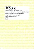 Okładka: Widłak Wojciech, Dwa obrazki bez wystawy na perkusję, wiolonczelę i fortepian (partytura+głosy)