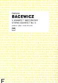 Okładka: Bacewicz Grażyna, V Kwartet smyczkowy (partytura)