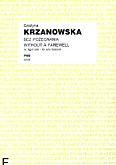 Okładka: Krzanowska Grażyna, Bez pożegnania na fagot solo