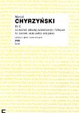 Okładka: Chyrzyński Marcel, In C na klarnet, altówkę (wiolonczelę) i fortepian (partytura + głosy)