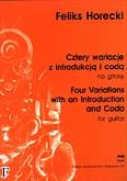 Okładka: Horecki Feliks, Cztery wariacje z Introdukcją i Codą