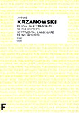 Okładka: Krzanowski Andrzej, Pejzaż sentymentalny na dwa akordeony (partytura)