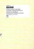 Okładka: Baird Tadeusz, Cztery sonety miłosne I: na baryton i orkiestrę, II: na baryton, klawesyn i smyczki (wyciąg fortepianowy)