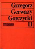 Ok�adka: Szweykowski Zygmunt Maria, Gorczycki G.G. Studia II.