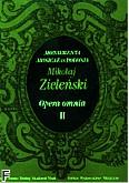 Ok�adka: Zieli�ski Maciej, Opera Omnia II, Monumenta Musicae in Polonia