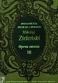 Okładka: Zieliński Maciej, Opera Omnia III, Monumenta Musicae in Polonia