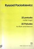 Okładka: Paciorkiewicz Ryszard, 22 preludia na flet i fagot